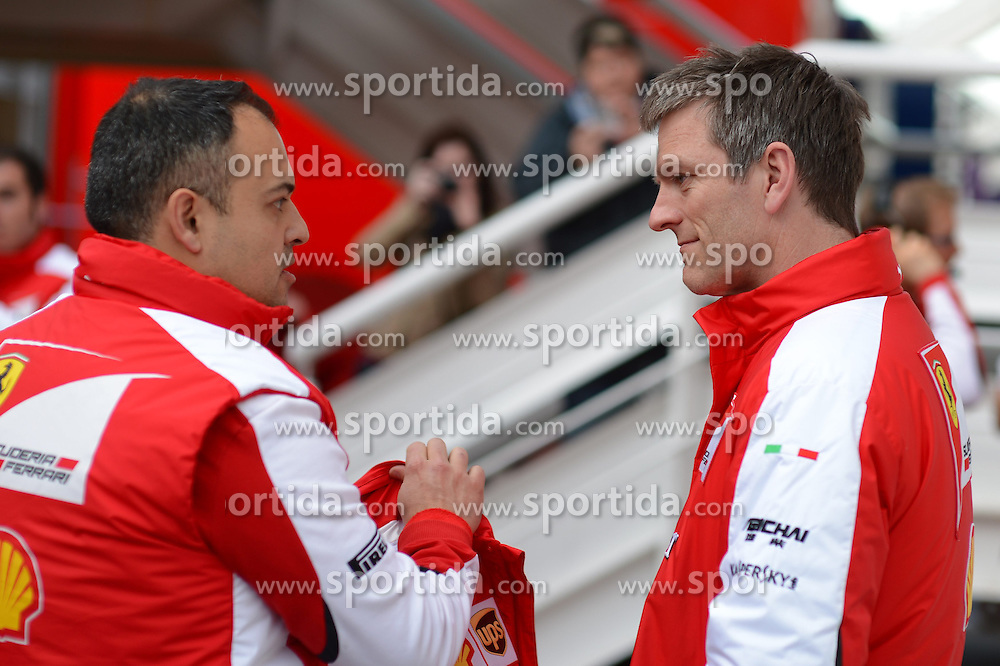 26.02.2015, Circuit de Catalunya, Barcelona, ESP, FIA, Formel 1, Testfahrten, Barcelona, Tag 1, im Bild (L to R): Diego Ioverno (ITA) Ferrari Operations Director and James Allison (GBR) Ferrari Chassis Technical Director // during the Formula One Testdrives, day one at the Circuit de Catalunya in Barcelona, Spain on 2015/02/26. EXPA Pictures &copy; 2015, PhotoCredit: EXPA/ Sutton Images/ Patrik Lundin Images<br /> <br /> *****ATTENTION - for AUT, SLO, CRO, SRB, BIH, MAZ only*****