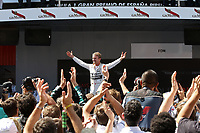 ROSBERG nico (ger) mercedes gp mgp w06 ambiance  podium during 2015 Formula 1 FIA world championship, Spain Grand Prix, at Barcelona Catalunya from May 8th to 10th. Photo Gregory Lenormand / DPPI