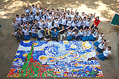 Over Thirty Thousand Bottle Caps To Make Vincent Van Goghs The Starry Night