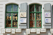 MEISSEN, GERMANY - MAY 22, 2010: View to the windows of a souvenir shop in Meissen, Germany.