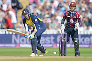 Rikki Clarke and Ben Duckett during the NatWest T20 Blast semi final match between Northamptonshire County Cricket Club and Warwickshire County Cricket Club at Edgbaston, Birmingham, United Kingdom on 29 August 2015. Photo by David Vokes.