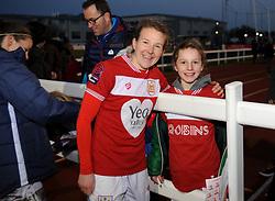 Frankie Brown of Bristol City poses for a photo with fans - Mandatory by-line: Nizaam Jones/JMP - 27/01/2019 - FOOTBALL - Stoke Gifford Stadium - Bristol, England - Bristol City Women v Yeovil Town Ladies- FA Women's Super League 1