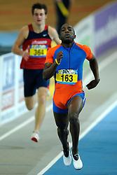 07-02-2010 ATLETIEK: NK INDOOR: APELDOORN<br /> Nederlands kampioen Jerrel Feller op de 200 m<br /> ©2010-WWW.FOTOHOOGENDOORN.NL
