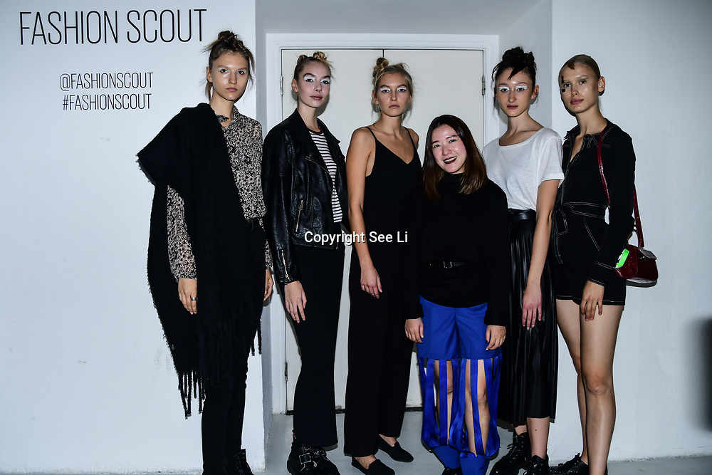 Designer A-Jane Backstate at Fashion Scout - SS19 Day 3, on 15 September 2019, London, UK