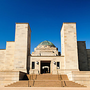 Exterior of the Australian War Memorial in Canberra, ACT, Australia