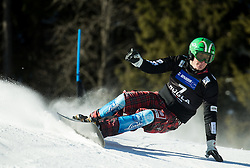 Rok Marguc (SLO) competes during Qualification Run in Men's Parallel Giant Slalom of FIS Snowboard World Cup Rogla 2017, on January 28, 2017 at Course Jasa, Rogla, Slovenia. Photo by Vid Ponikvar / Sportida
