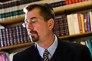 Jeffrey H. Pulse, associate professor of exegetical theology at Concordia Theological Seminary, works at his desk on Monday, Jan. 20, 2014, in Fort Wayne, Ind.  LCMS Communications/Erik M. Lunsford