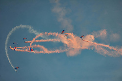 RAF FALCONS PARACHUTE DISPLAY, Battle of Britain Air Show, Duxford 24th September 2017