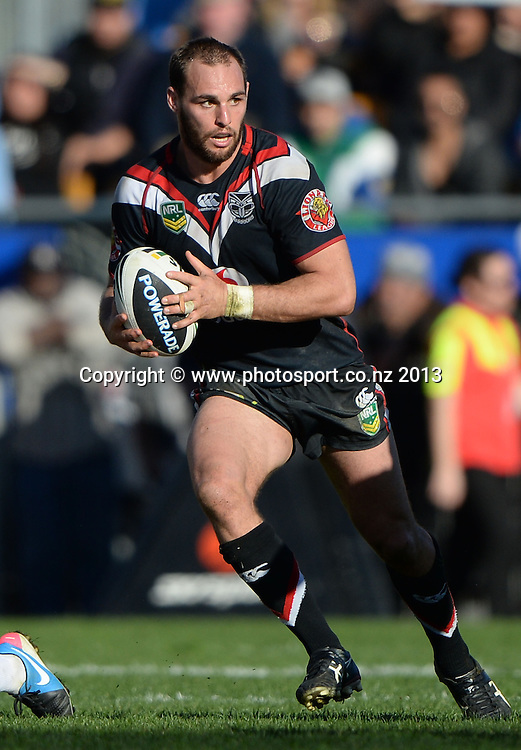 Simon Mannering. NRL Rugby League match, Vodafone Warriors v Melbourne Storm at Mt Smart Stadium in Auckland on Sunday 28 July 2013. Photo: Andrew Cornaga/Photosport.co.nz