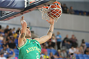Nathan Sobey #2 of Australia during the Australia v Philippines, 1st Round, Group B, Asian Qualifier at the Margaret Court Arena, Melbourne, Australia on 22 February 2018. Picture by Martin Keep.