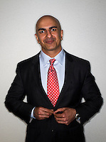 California Republican gubernatorial candidate, Neel Kashkari, stands for a photograph after an interview in San Francisco, California, U.S., on Friday, Feb. 28, 2014. Photographer: David Paul Morris