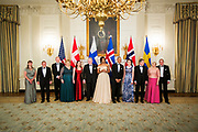 The Nordic Heads of State attends a dinner at the White House, hosted by US President Barack Obama and First Lady Michelle Obama
