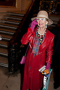 LADY HENRIETTA ROUS, Opening of David Hockney ' A Bigger Picture' Royal Academy. Piccadilly. London. 17 January 2012