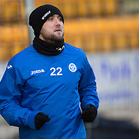 St Johnstone Training....30.12.14<br /> Lee Croft pictured in training this morning ahead of the New Years Day game at Aberdeen.<br /> Picture by Graeme Hart.<br /> Copyright Perthshire Picture Agency<br /> Tel: 01738 623350  Mobile: 07990 594431