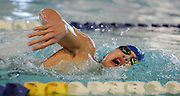 Bedford High School sophomore Kai Arsenault competes in the 200 yard freestyle during the DCL meet at Atkinson Pool in Sudbury, Jan. 31, 2015.   (Wicked Local Photo/James Jesson)