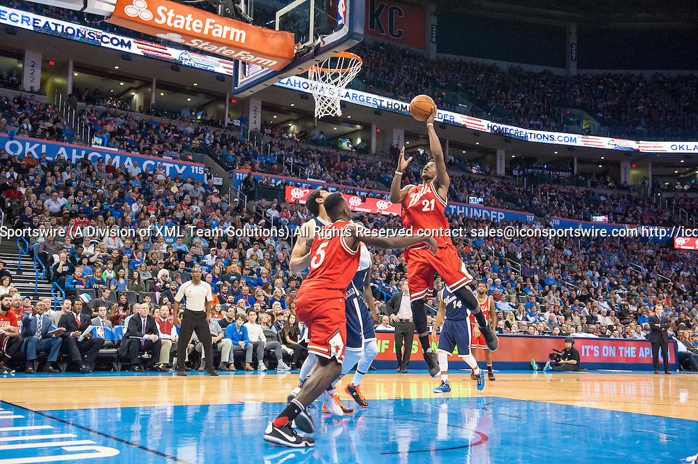 December 25, 2015:    Chicago Bulls Guard Jimmy Butler (21) [3045] going for 2 points game versus Oklahoma City Thunder  at Chesapeake Energy Arena in Oklahoma City (Torrey Purvey/Icon Sportswire)