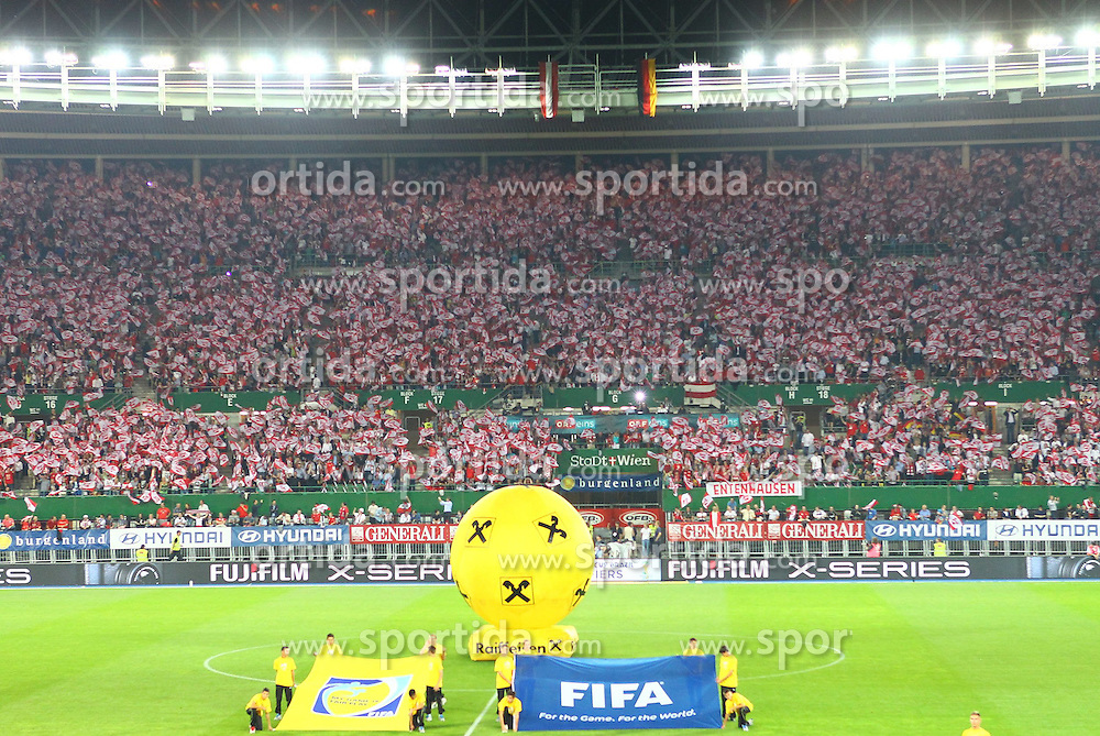 11.09.2012, Ernst Happel Stadion, Wien, AUT, FIFA WM Qualifikation, Oesterreich vs Deutschland, im Bild Fanchoreographie vor dem Spiel // during FIFA World Cup Qualifier Match between Austria and Germany at the Ernst Happel Stadion, Vienna, Austria on 2012/09/11. EXPA Pictures © 2012, PhotoCredit: EXPA/ Patrick Leuk