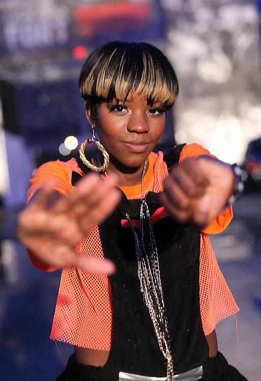 AUSTIN, TX - MARCH 19:  Rapper Rye Rye aka Ryeisha Berrain poses backstage after her performance at the Levi's Fader Fort as part of SXSW 2010 on March 19, 2010 in Austin, Texas.  (Photo by Roger Kisby/Getty Images)