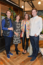 Left to right, NED CORBETT-WINDER, KATE CORBETT-WINDER, SARAH CORBETT-WINDER and TOM CORBETT-WINDER at a party to celebrate the publication of 'Inspire: The Art of Living With Nature' by Willow Crossley held at Anthropologie, 131-141 Kings Road, London on 13th March 2014.
