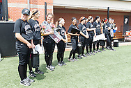 April 26, 2014: The Oklahoma Christian University Lady Eagles softball team honors their seniors prior to the last regular season home game on Tom Heath Field at Lawson Plaza on the campus of Oklahoma Christian University.