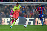 Manchester City forward Gabriel Jesus (9) attacks with the ball during the Premier League match between Crystal Palace and Manchester City at Selhurst Park, London, England on 19 October 2019.