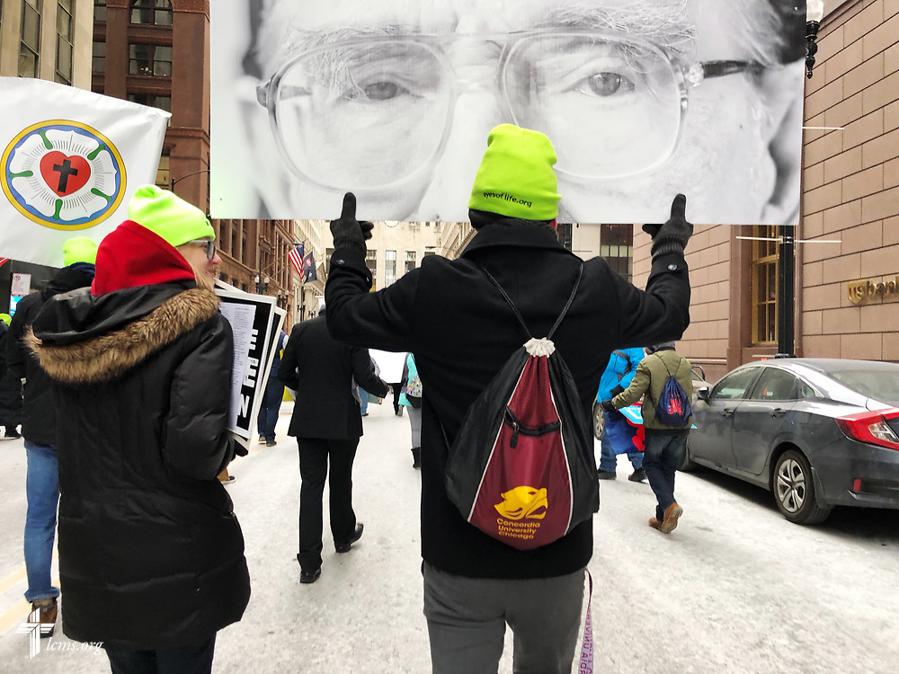 Photographs from March for Life Chicago 2018 on Sunday, Jan. 15, 2018, in Chicago. LCMS Communications/Pamela Nielsen