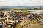 Nederland, Zeeland, Terneuzen, 09-05-2013; Zeeuws-Vlaanderen, centrum van Terneuzen gezien naar Kanaal Terneuzen - Gent.<br /> View on the center Terneuzen (Zeeland) and the entrance to the  Terneuzen - Ghent Canal.<br /> luchtfoto (toeslag op standard tarieven);<br /> aerial photo (additional fee required);<br /> copyright foto/photo Siebe Swart.