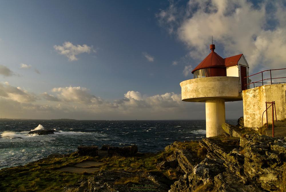 Fjøløy lighthouse at Rennesøy, Rogaland.