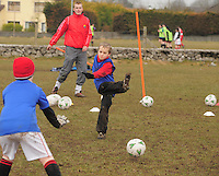 Training at  Creggmore Football Club. Photo:Andrew Downes.