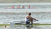 Varese,  ITALY. 2012 FISA European Championships, Lake Varese Regatta Course. ..Men's Single Sculls, GBR M1X . Graeme THOMAS, qualifying for Sundays A Final place..12:23:51  Saturday  15/09/2012 .....[Mandatory Credit Peter Spurrier:  Intersport Images]  ..2012 European Rowing Championships Rowing, European,  2012 010849.jpg.....
