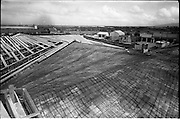 04/06/1964<br /> 06/04/1964<br /> 04 June 1964<br /> Sisk's new offices and premises at Naas Road, Clondalkin, Dublin. View of roof still under construction.