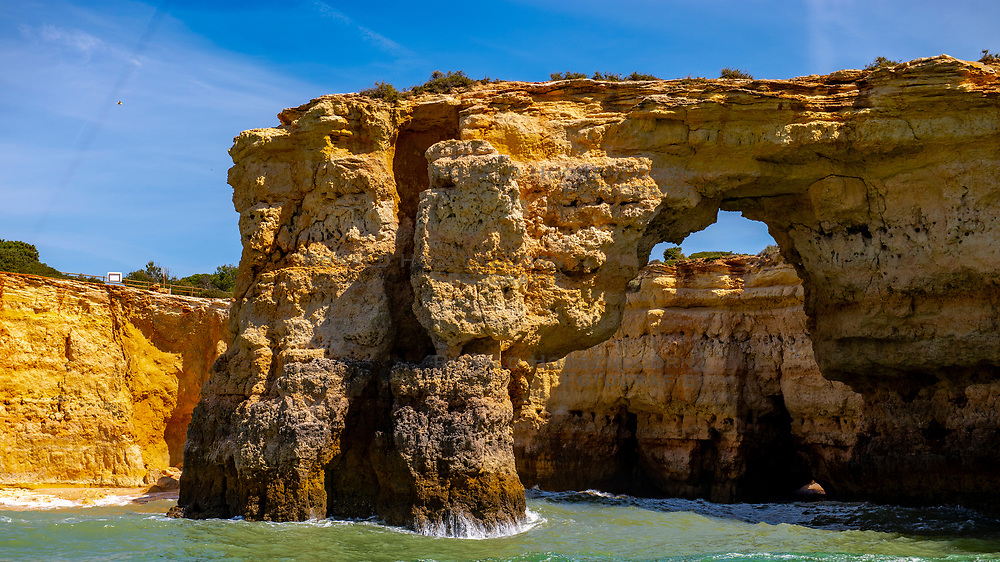 28-04-2019 POR: Vacation Algarve 2019 day 5, Albufeira<br /> A 2,5 hour cruise along the Algarvian coastline between Albufeira Marina and Carvoeiro for the observation of dolphins and discover the mysterious caves and enjoy the coastline majestic rock formations.