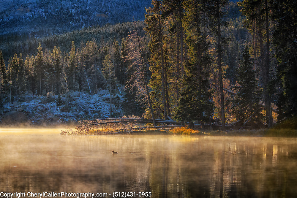 Sprague Lake on a cold September morning