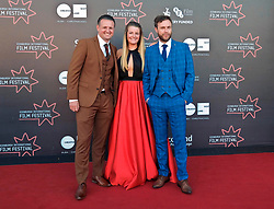 Edinburgh International Film Festival, Saturday, 24 June 2018<br /> <br /> STEEL COUNTRY (WORLD PREMIERE)<br /> <br /> Pictured:  Scott Kyle, Karen Kyle and David Elliot<br /> <br /> (c) Alex Todd | Edinburgh Elite media