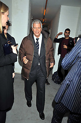 LARRY GAGOSIAN at the Prada Congo Art Party hosted by Miuccia Prada and Larry Gagosian at The Double Club, 7 Torrens Street, London EC1 on 10th February 2009.