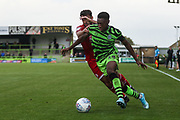 Forest Green Rovers Ebou Adams(14) runs forward during the EFL Sky Bet League 2 match between Forest Green Rovers and Crawley Town at the New Lawn, Forest Green, United Kingdom on 5 October 2019.