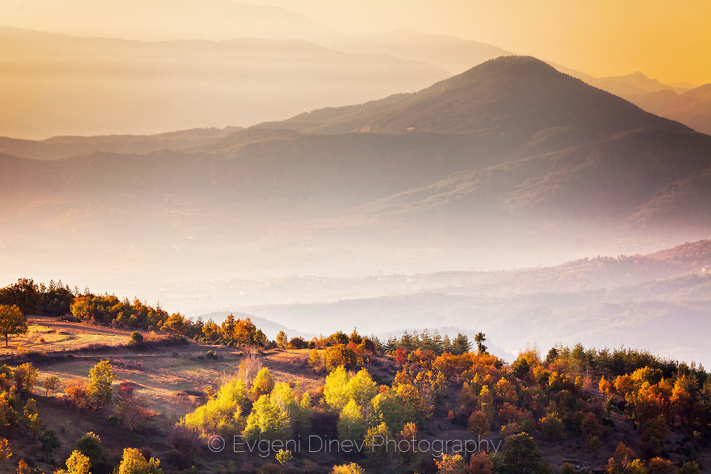 Misty autumn morining in Rhodope Mountains