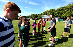 Jonny Arr of Worcester Warriors leads a coaching session as Worcester Warriors host a summer holiday rugby camp at Malvern College - Mandatory by-line: Robbie Stephenson/JMP - 16/08/2017 - RUGBY - Malvern College - Worcester, England - Worcester Warriors - Malvern Rugby Camp