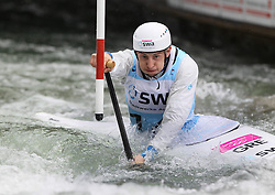 28.02.2013, Eiskanal, Augsburg, GER, ICF Kanuslalom Weltcup, 2. Rennen, im Bild Christos TSAKMAKIS (GRE, Augsburg), C1, Canadier Einer, // during 2nd race of ICF Canoe Slalom World Cup at the ice track, Augsburg, Germany on 2013/06/28. EXPA Pictures © 2013, PhotoCredit: EXPA/ Eibner/ Klaus Rainer Krieger<br /> <br /> ***** ATTENTION - OUT OF GER *****