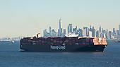 Images of Containership MV 'Essen Express' in New York Harbor