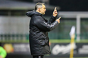 Forest Green Rovers U18 manager Chris Barker during the FA Youth Cup match between U18 Forest Green Rovers and U18 Cheltenham Town at the New Lawn, Forest Green, United Kingdom on 29 October 2018.