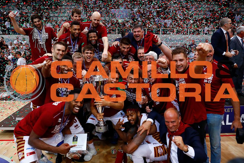 team Umana Reyer Venezia<br />Dolomiti Energia Trento - Umana Reyer Venezia<br />Lega Basket Serie A 2016-2017<br />Playoff FINALE Gara 6<br />Avellino 20/06/2017<br />Foto Ciamillo-Castoria