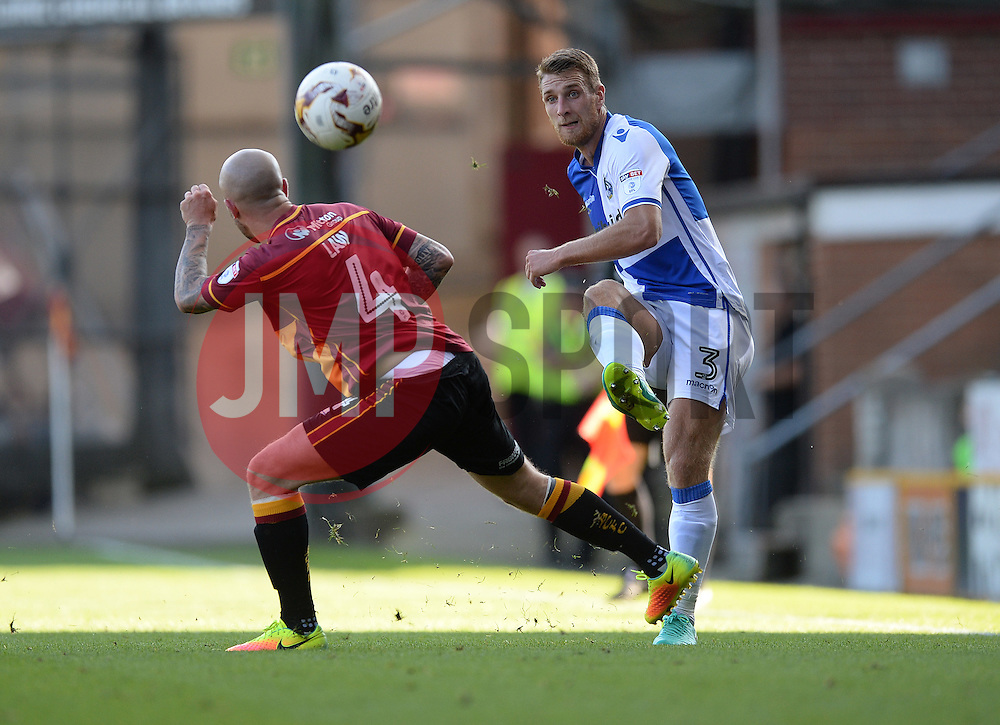 Lee Brown of Bristol Rovers picks out a pass.  - Mandatory by-line: Alex James/JMP - 17/09/2016 - FOOTBALL - Coral Windows Stadium - Bradford, England - Bradford City v Bristol Rovers - Sky Bet League One