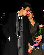 14.SEPTEMBER.2007. LONDON<br /> <br /> AMY WINEHOUSE AND HUSBAND BLAKE LEAVING CENTURY CLUB, SOHO AT 1.30AM HOLDING A BUNCH OF FLOWERS AFTER CELEBRATING AMY'S 24TH BIRTHDAY.<br /> <br /> BYLINE: EDBIMAGEARCHIVE.CO.UK<br /> <br /> *THIS IMAGE IS STRICTLY FOR UK NEWSPAPERS AND MAGAZINES ONLY*<br /> *FOR WORLD WIDE SALES AND WEB USE PLEASE CONTACT EDBIMAGEARCHIVE - 0208 954 5968*