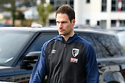 Asmir Begovic (27) of AFC Bournemouth arrives at the Vitality Stadium before the Premier League match between Bournemouth and Manchester City at the Vitality Stadium, Bournemouth, England on 2 March 2019.