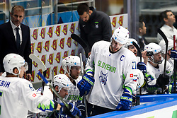 Ivo Jan, head coach of Slovenia and Anze Kopitar of Slovenia during ice hockey match between Belarus and Slovenia at IIHF World Championship DIV. I Group A Kazakhstan 2019, on May 2, 2019 in Barys Arena, Nur-Sultan, Kazakhstan. Photo by Matic Klansek Velej / Sportida