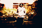 "St. Louis musician Mikey Wehling, captured with a ""digital Holga"" in November 2011."