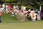 Jul 31, 2005; Grand Blanc, MI, USA; Zach Johnson found his self paired with tournament champion Vijay Singh for the final round of the 2005 Buick Open at the Warwick Hills Golf and Country Club.  On thirteen he found the greenside bunker but managed to get up and down for par.  Copyright © 2005 Kevin Johnston