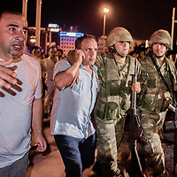 Injured solider were taken under control of AKP supporter and police