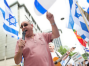 Emergency Rally for Israel outside the Israeli Embassy in Kensington, London, Great Britain <br />